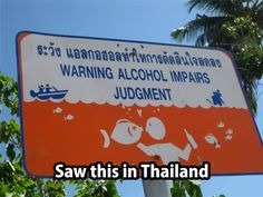 Ah Thailand, the land of sun and fun and really bad english translators