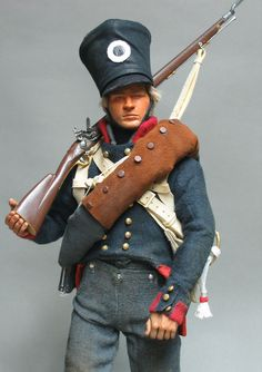 The Prussian Musketeer , 6th Line, 1st West Prussian regiment : from the Regular battalions which formed only a small part of an Army largely composed of Reserve and Landwehr troops, he wears the Regular uniform. These men marched up to 14 miles on a hot day, then launched the decisive attack on the French right rear:~  Waterloo