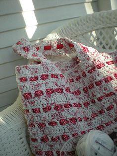 Crocheted plastic bag--from The Crochet Foyer