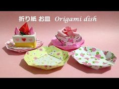折り紙 お皿 簡単な折り方(niceno1)Origami dish tutorial - YouTube