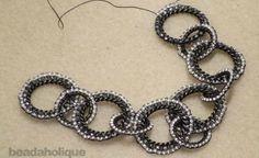 Circular brick stitch over ring tute