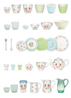 New GreenGate Spring/Summer 2015 Catalogue | New Simone White & New Olivia Pale Blue, Spot Pale Blue & Spot Green, Mimi Green | WELCOME TO INTERIOR WITH COLORS