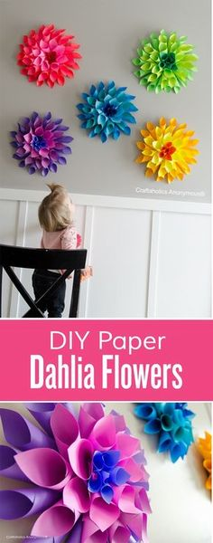Spring is the time to plant Dahlias so we can enjoy their beauty during the summer. They are a perfect addition to any garden and can be used for making amazing centerpieces when cut. Inspired by their gorgeousness we decided to find tutorials on how to make some Dahlias right now and bring a piece of summer into our homes. Surely we are talking about artificial dahlias but they are so good looking and can be used for so many things like wall art, accessories, home decor, table decor etc.