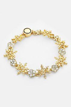 Snowflake Bracelet in Gold