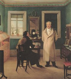 Johann Wolfgang Goethe in his office dictating to the secretary August Friedrich John. Picture of Johann Joseph Schmeller Library Of Alexandria, Johann Wolfgang Von Goethe, Walk The Earth, Good Old, Embedded Image Permalink, Decoration, Erotica, Literature, Germany