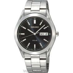 Mens Seiko Solar Powered Watch SNE039P1