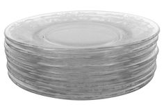Etched Tiffin Dessert Plates, S/8 on OneKingsLane.com 12 of these