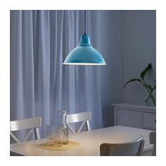 FOTO Pendant lamp with LED bulb IKEA Gives a directed light. Good for lighting dining tables or a bar area.
