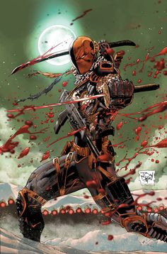 DeathStroke by Tony Daniel (DC comics) Comic Book Characters, Comic Book Heroes, Comic Character, Comic Books Art, Comic Art, Comic Pics, Arte Dc Comics, Last Action Hero, Deathstroke The Terminator