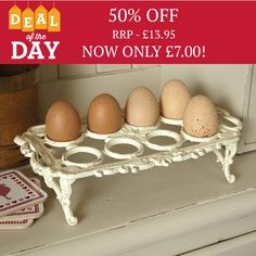 Cast Iron Egg Holder