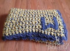 Crocheted Baby Blanket: Save time using a large hook and multiple strands.