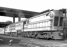 One of the Chesapeake & Ohio Steam Powered Turbine-Electric Locomotives