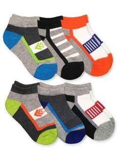 4-6T 6-8T 8-11T, 6-Pack Boys and Girls Low Cut//No Show Athletic Mesh Socks