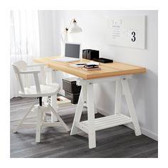 TORNLIDEN / FINNVARD Table, pine veneer, white pine veneer/white 59x29 1/2