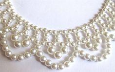 Vintage Pearl, Bride, After Five Necklace/Choker 1950's (VN101)