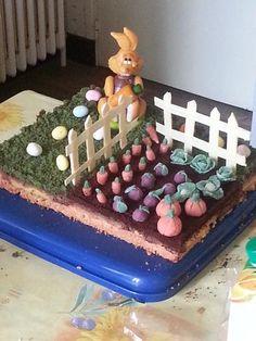 Gâteau jardin de Pâques - Recette de cuisine Marmiton : une recette