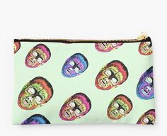 """""""Gods and monsters"""" kitsch, horror, retro, monster and werewolf studio pouch."""