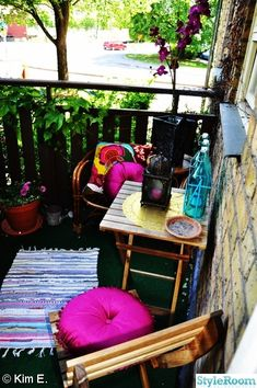 Bohemian balcony