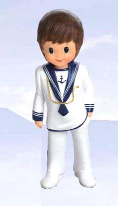 Figura Comunión niño marinero cordón dorado [60-1670] - 1.30 € : Cosas43, detalles y regalos para los invitados, boda, comunión y bautizo, regalos infantiles