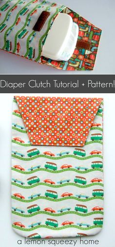 Diaper Clutch:  Free Sewing Pattern + Tutorial!