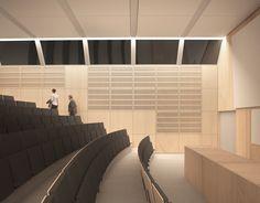 Myös 150 hengen auditorio saa peruskorjauksessa uuden ilmeen.