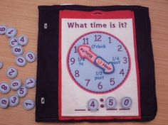 Telling Time Clock Quiet Book Page - Build a Personalized Busy Book Activity Book Busy Bag for Toddler & Preschoolers