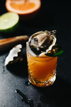 The Paloma-Inspired Oyster Shooter — In A Half Shell Oyster Shooter, Tapas Party, Sustainable Seafood, Grapefruit Juice, Stuffed Jalapeno Peppers, Bon Appetit, Oysters, Good Food, Lime