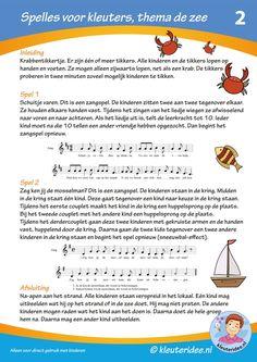 Spelles 2 voor kleuters, thema zee, by juf Petra van kleuteridee.