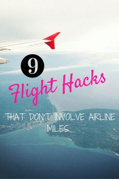 I hate figuring out airline miles! If you do too, these hacks are for you :)