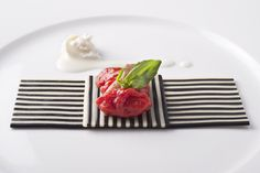 """Featured in FOUR International, this experimental """"pizza margherita"""" by master of Italian cuisine Davide Scabin typifies his playful cooking style..."""