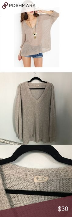 "BRANDY MELVILLE JOHN GALT oversized knit sweater Like the one in the stock photo except gray! New without tags, perf condition. No trades, no ""lowest?"" and please no lowballing but feel free to make reasonable offers. Brandy Melville Sweaters"