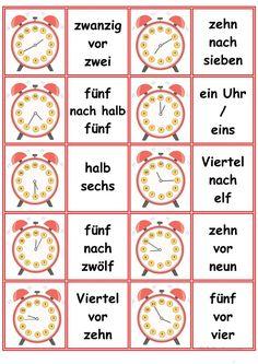 Spiele im Deutschunterricht: Memory - die Uhrzeiten