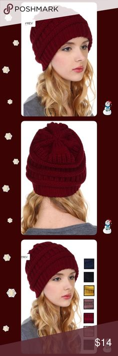 🎁NWT Lovely Soft Knit Winter Hats🌨☃🌬 NWT Lovely Knit SOFT Winter Hats🌨☃🌬 Available in BLACK, DARK GRAY and IVORY ONLY. 😀 Accessories Hats
