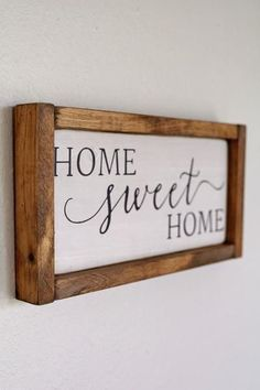 Rustic Wooden Home Sweet Home Sign perfect for your Vintage Farmhouse! Solid pine with a warm country stain. Made of Solid Pine.