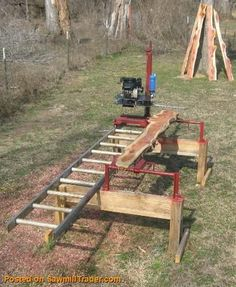 Chainsaw Mill PLANS Build a 400 Sawmill Complete Chainsaw Mills Chainsaw Mills Lumber Mill, Wood Mill, Woodworking Jigs, Woodworking Projects, Outdoor Projects, Wood Projects, Chainsaw Mill Plans, Portable Saw Mill, Portable Chainsaw Mill