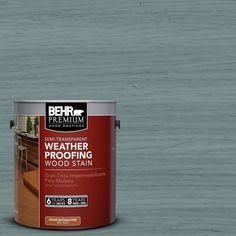BEHR Premium 1-gal. #ST-119 Colony Blue Semi-Transparent Weatherproofing Wood Stain