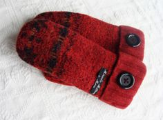 Handcrafted Sweater Mittens Burnt Orange by miraclemittens on Etsy, $38.00