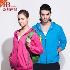 Outdoor sun-protective jackets for lovers, men, women