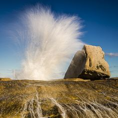Bicheno Blow Hole by Simon Baker Photography, via Flickr