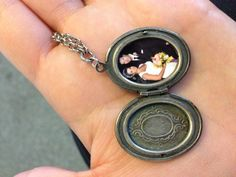 save the copies of the small pictures when you order from snapfish or any other site, cut them out and stick them in a locket! makes a great keepsake!