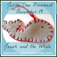 Jonah and the Whale Jesse Tree Ornament | Harrington Harmonies