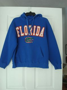 3b240c4592c27 University of Florida Gators Hoodie Men s Size MED Blue  amp  Orange Sewn  Logo  E5