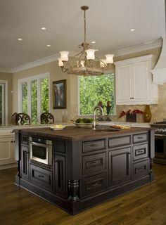 Wood Islands, Kitchen Island, House Ideas, New Homes, House Design, Home Decor, Kitchens, Island Kitchen, Decoration Home