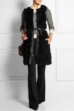 Chloé | Houndstooth wool-blend sweater | NET-A-PORTER.COM