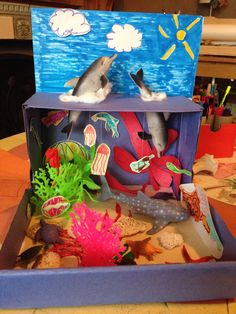 Making a ocean diorama is a fun