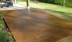 Watch us turn any boring concrete patio into an extraordinary one. We have a variety of stamp patterns and colors. #StampedPatio #StampedConcrete #AshlarPatterns