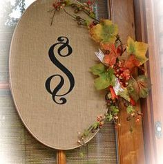 Fall Front Porch - Monogrammed Burlap Wreaths :: Hometalk