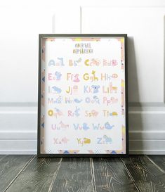 Nursery Wall Art Nursery Prints Alphabet Print Alphabet Alphabet Print, Animal Alphabet, Alphabet Nursery, Nursery Prints, Nursery Wall Art, Wall Art Prints, Kids Prints, Large Prints, Soft Colors