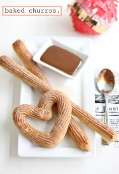 Baked Churros 2 tablespoons light brown sugar, packed 1/2 teaspoon table salt 1/3 cup margarine or unsalted butter  1 cup all-purpose flour (I used King Arthur unbleached) 2 large eggs 1 teaspoon vanilla extract 1/4 cup sugar 1 teaspoon ground cinnamon (or to taste)