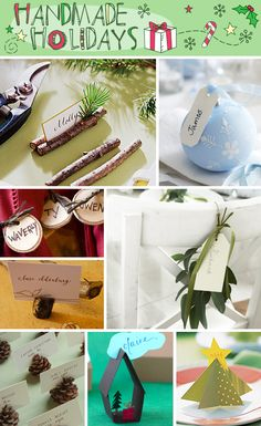 I'm pinning for the place cards and gingerbread man ornament, but lots of great Christmas craft ideas.